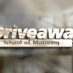 driveaway school of motoring logo glass