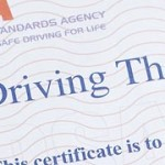 theory test pass certificate